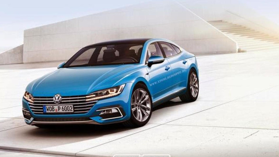 Next-gen Volkswagen CC rendered based on Sport Coupe Concept GTE