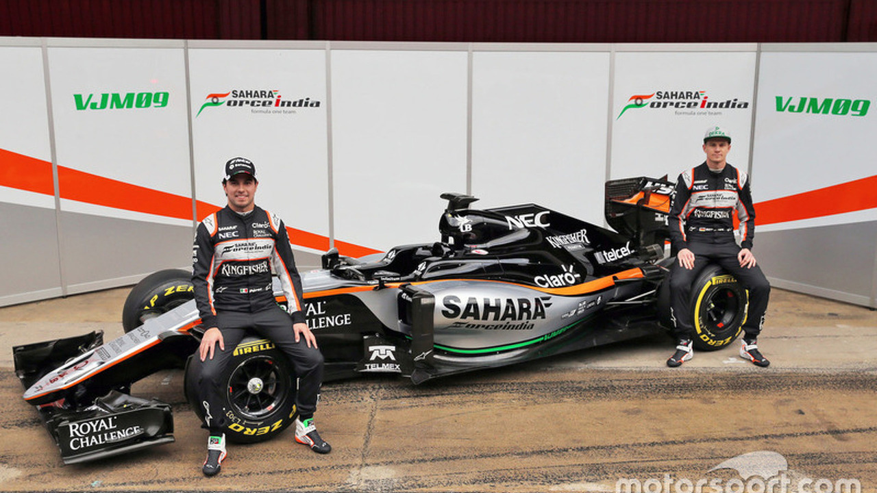 Sergio Perez, Sahara Force India F1 and Nico Hulkenberg, Sahara Force India F1 unveil the Sahara Force India F1 VJM09