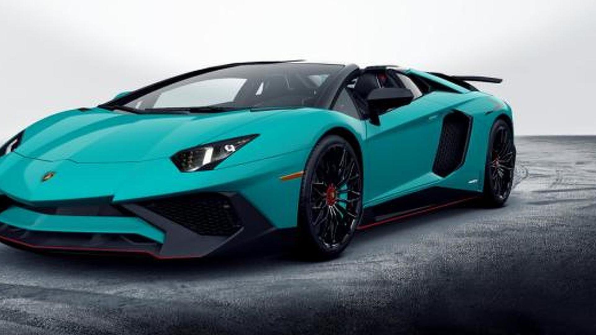 4e7a7685bb86 2017 Lamborghini Aventador LP 750-4 SuperVeloce Roadster revealed