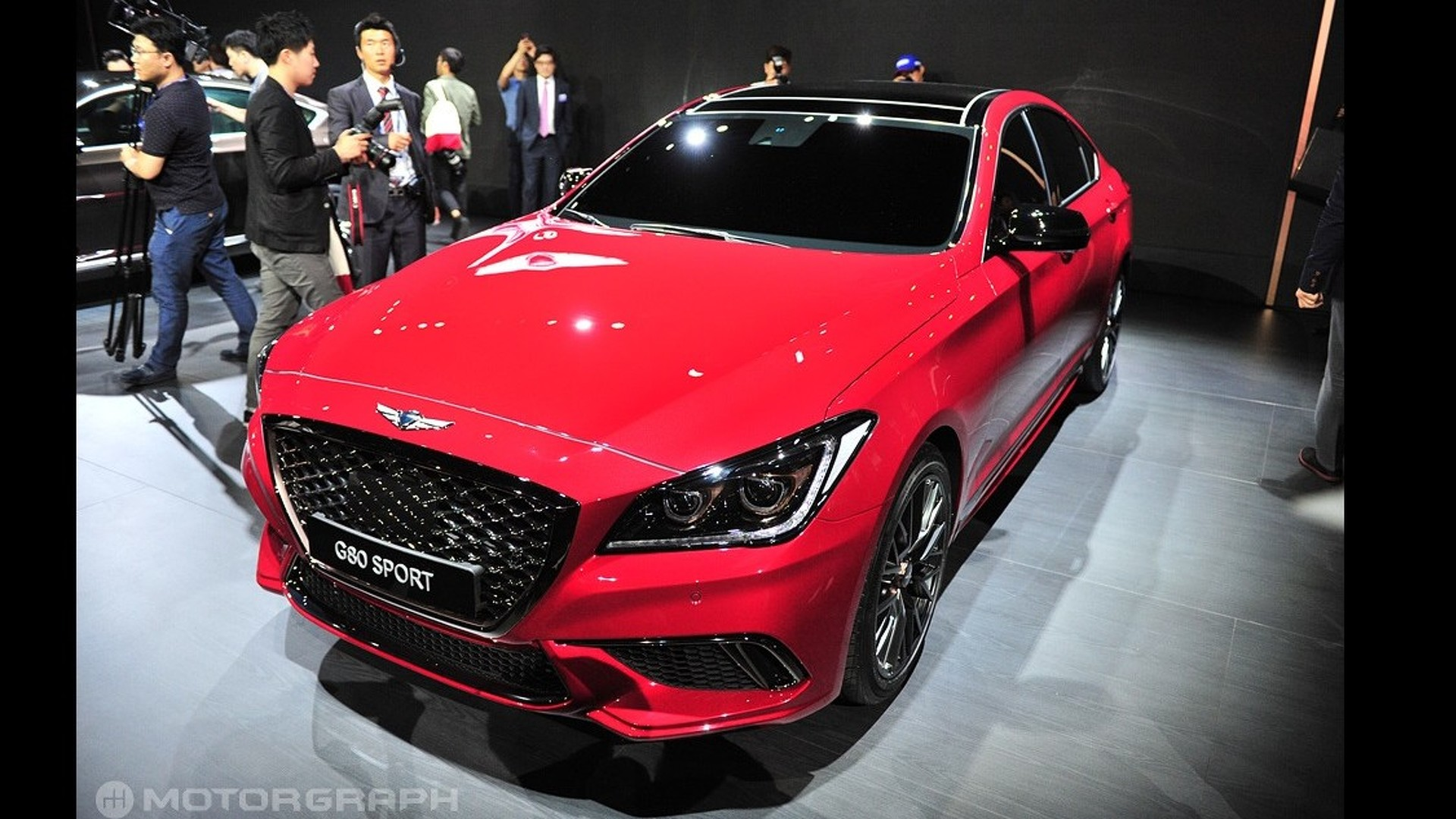2017 Genesis G80 Debuts With Sport Version At Busan Motor Show