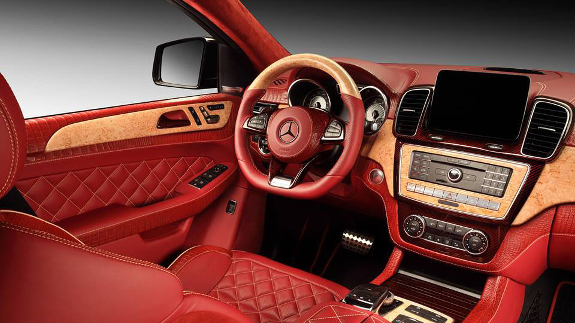Mercedes Benz Gle Coupe Red Crocodile Interior By Topcar Motor1