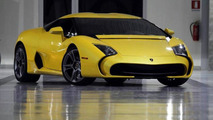Lamborghini 5-95 Zagato with pearl yellow paint