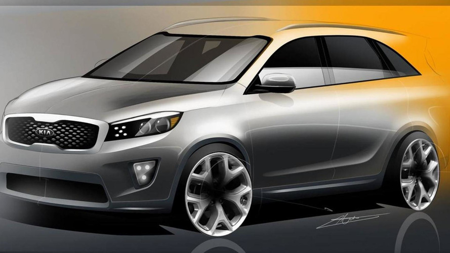 2015 / 2016 Kia Sorento sketches released