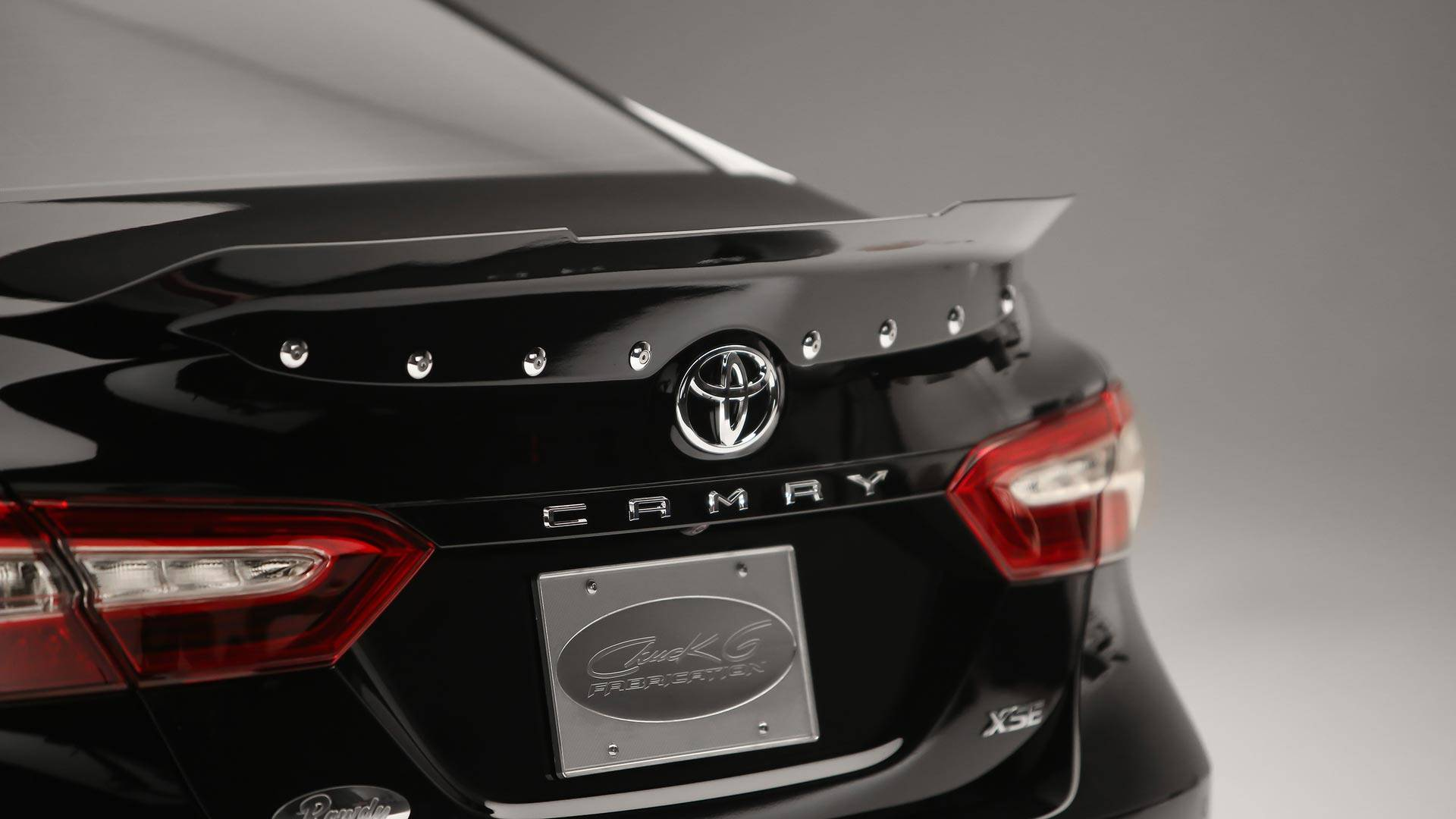 Toyotas Nascar Drivers Unleash Customized Camrys At Sema Wiring Harness Toyota Trunk