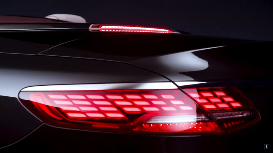 2018 Mercedes S-Class Cabriolet Teaser Shows OLED Taillights