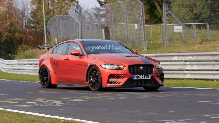 Jaguar XE SV Project 8 spied at Nürburgring going for record