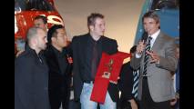 Manuele Amprimo, Werner Gruber e Yu Jae-Cheul, autori del progetto Ascari, con Donato Coco