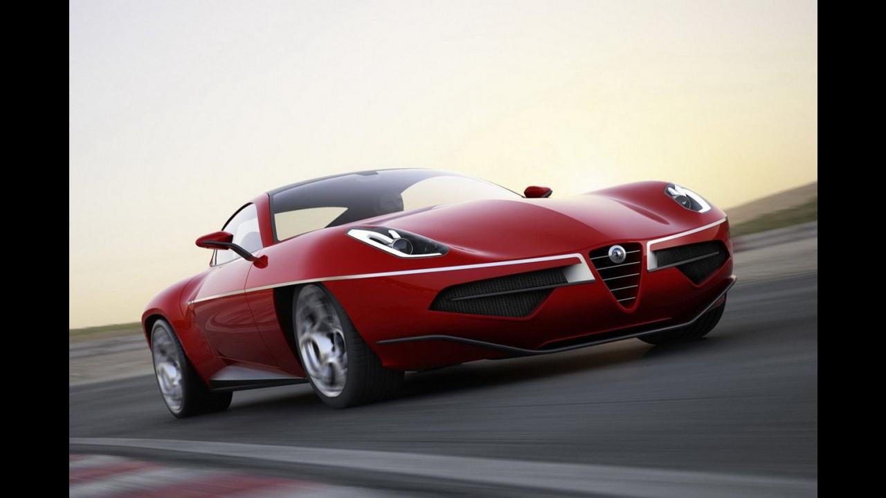 Touring Superleggera Disco Volante, rendering ufficiali