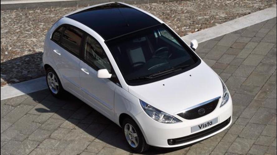 Tata Vista Bi-Fuel, fa 100 km con meno di 4 euro