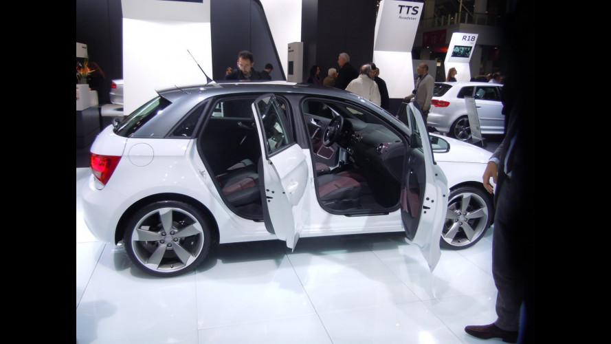 Audi A1 Sportback: primo incontro a 5 porte