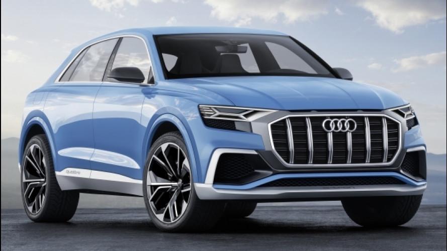 Audi Q8 concept, prove di SUV sportivo [VIDEO]
