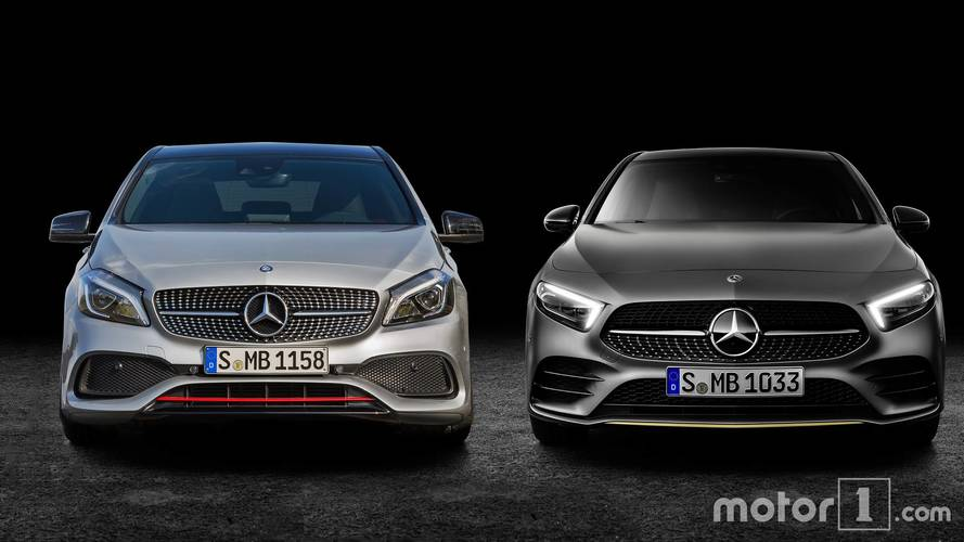 Side by side: 2018 and 2015 Mercedes A-Class
