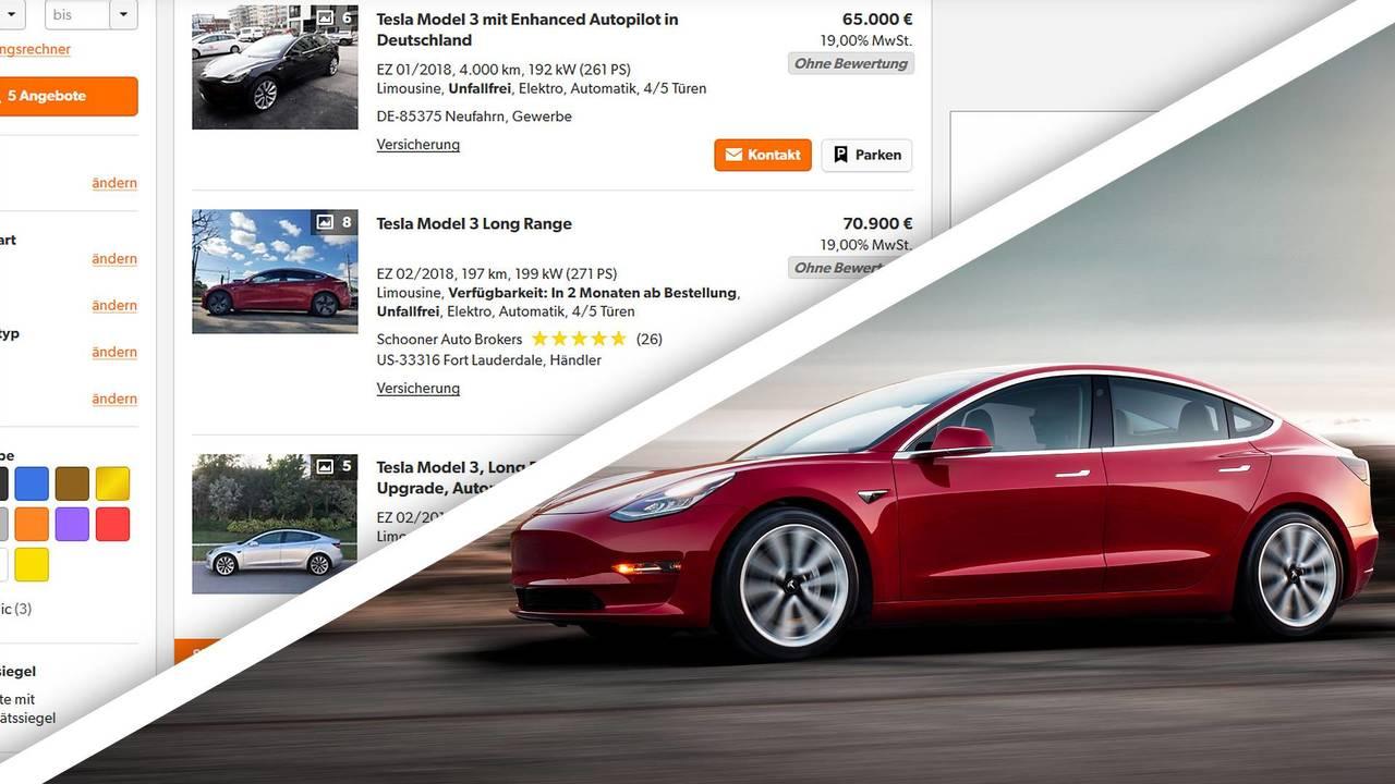 Tesla Model 3, gli annunci di vendita