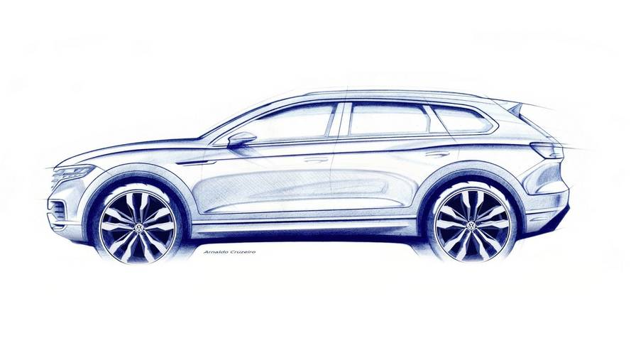 2019 VW Touareg Teases Sharper Shape [UPDATE]