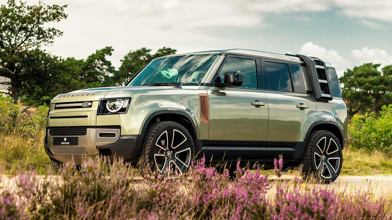 Land Rover Defender Valiance Verdigris by Heritage Customs