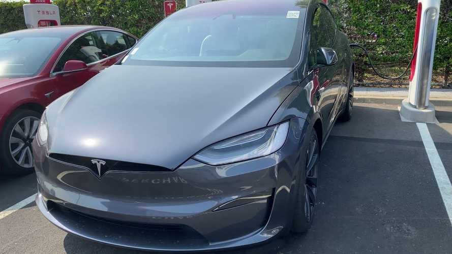 Check Out This Tesla Model X Plaid Seen At The Fremont Factory