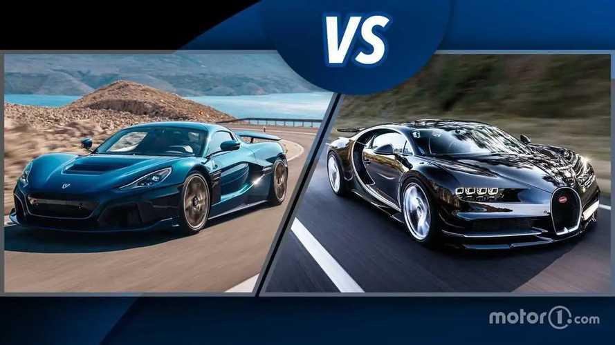 Rimac Nevera contra Bugatti Chiron: electricidad contra gasolina