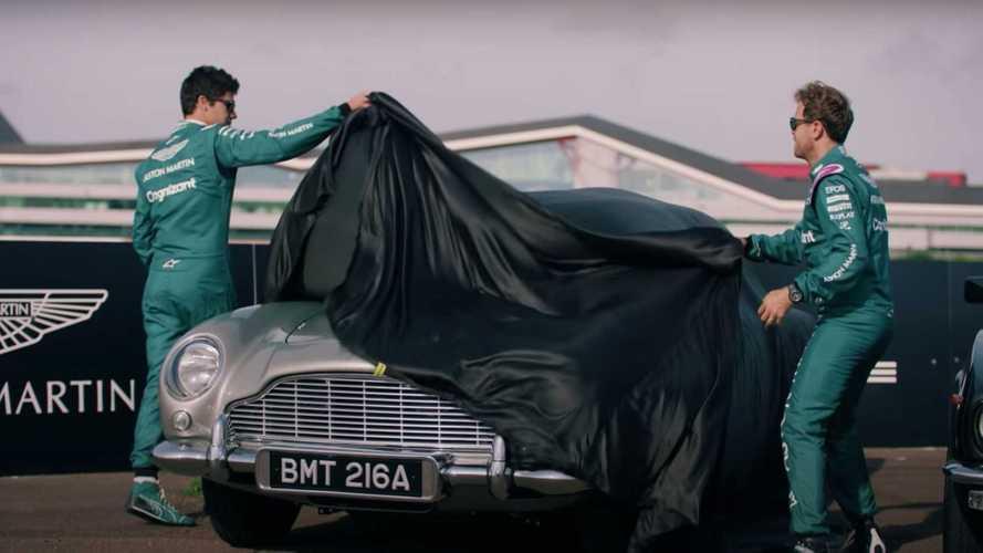 Saksikan Sebastian Vettel Jajal Aston Martin DB5 Milik James Bond