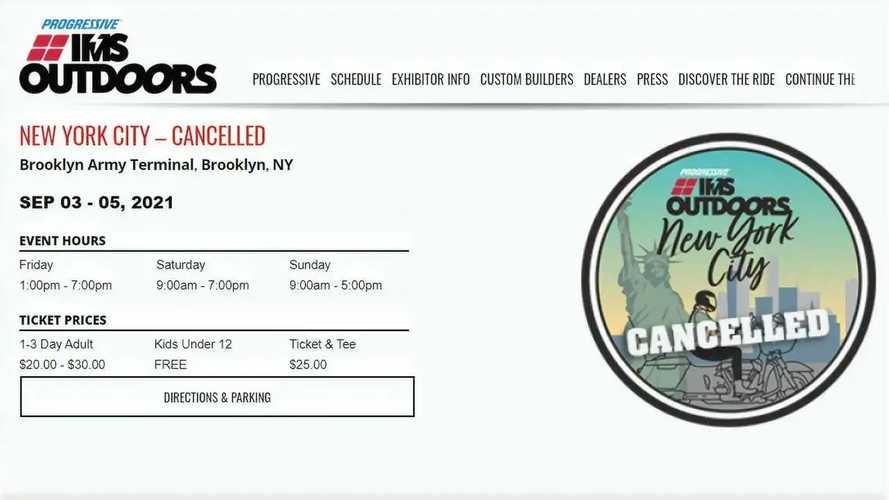 2021 Progressive IMS Outdoors NYC And Handbuilt Moto Show Canceled