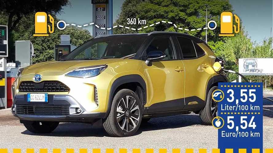 Tatsächlicher Verbrauch: Toyota Yaris Cross Hybrid im Test