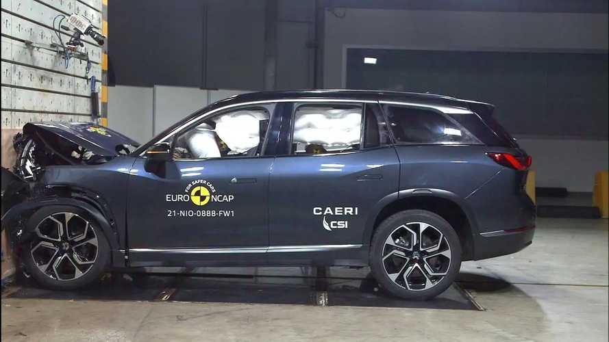 NIO ES8, i crash test di EuroNCAP
