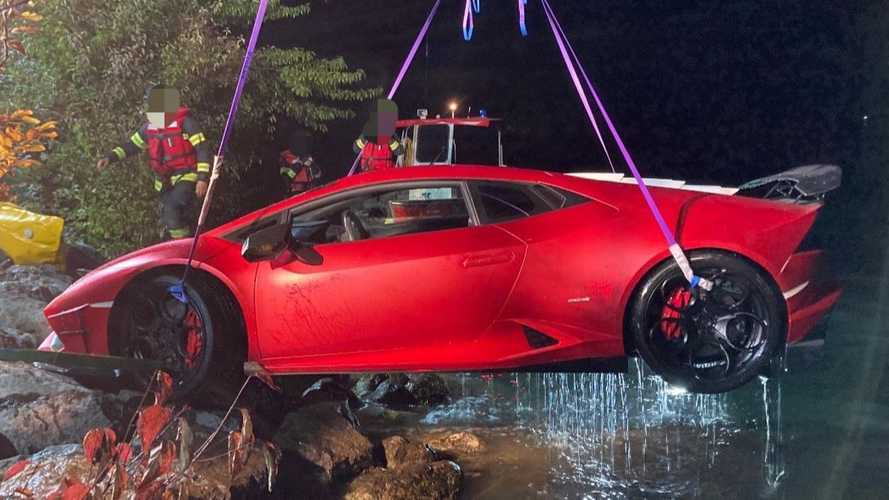 Lamborghini Becomes Submarine After Driver Confuses Gas, Brake Pedals