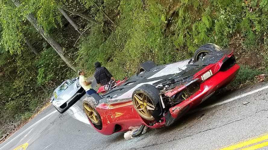 Drága baleset az Egyesült Államokban: hatalmasat borult a Ferrari 488 Pista Spider
