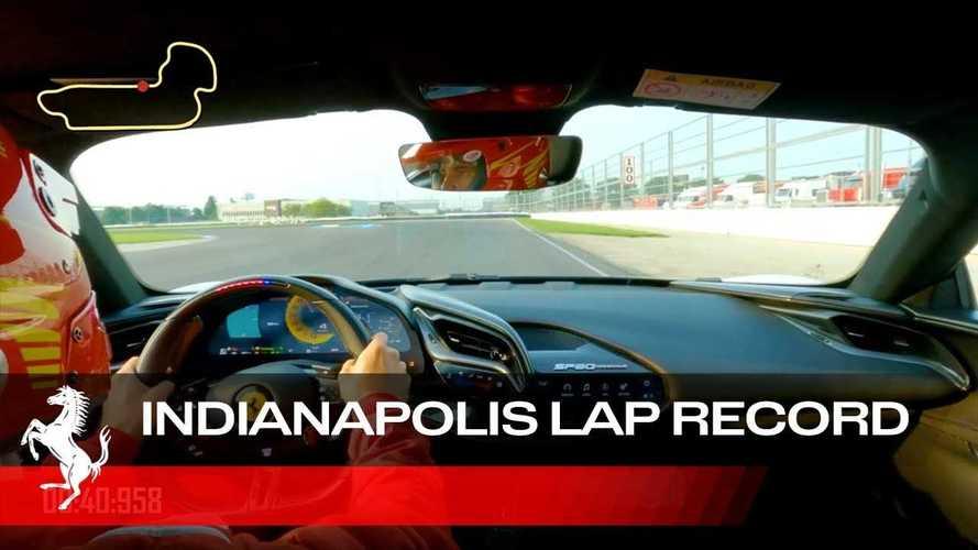 La Ferrari SF90 Stradale batte il record a Indianapolis (VIDEO)