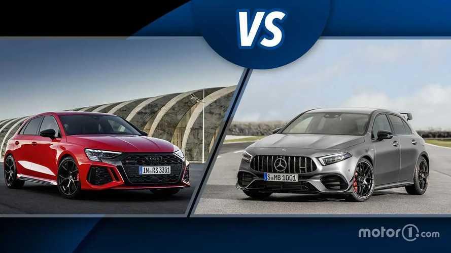 Neuer Audi RS 3 und Mercedes-AMG A 45 S im ersten Vergleich