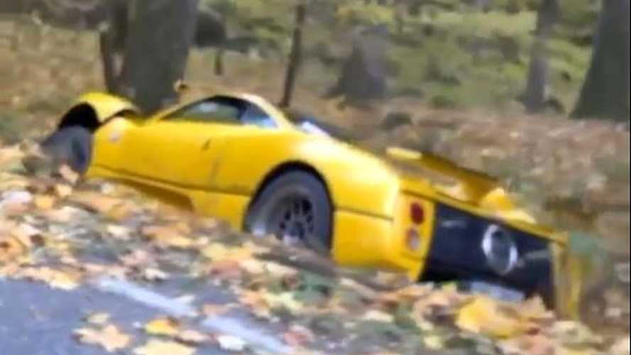 Pagani Zonda C12S Crashed In The Czech Republic Is Not A Pretty Sight