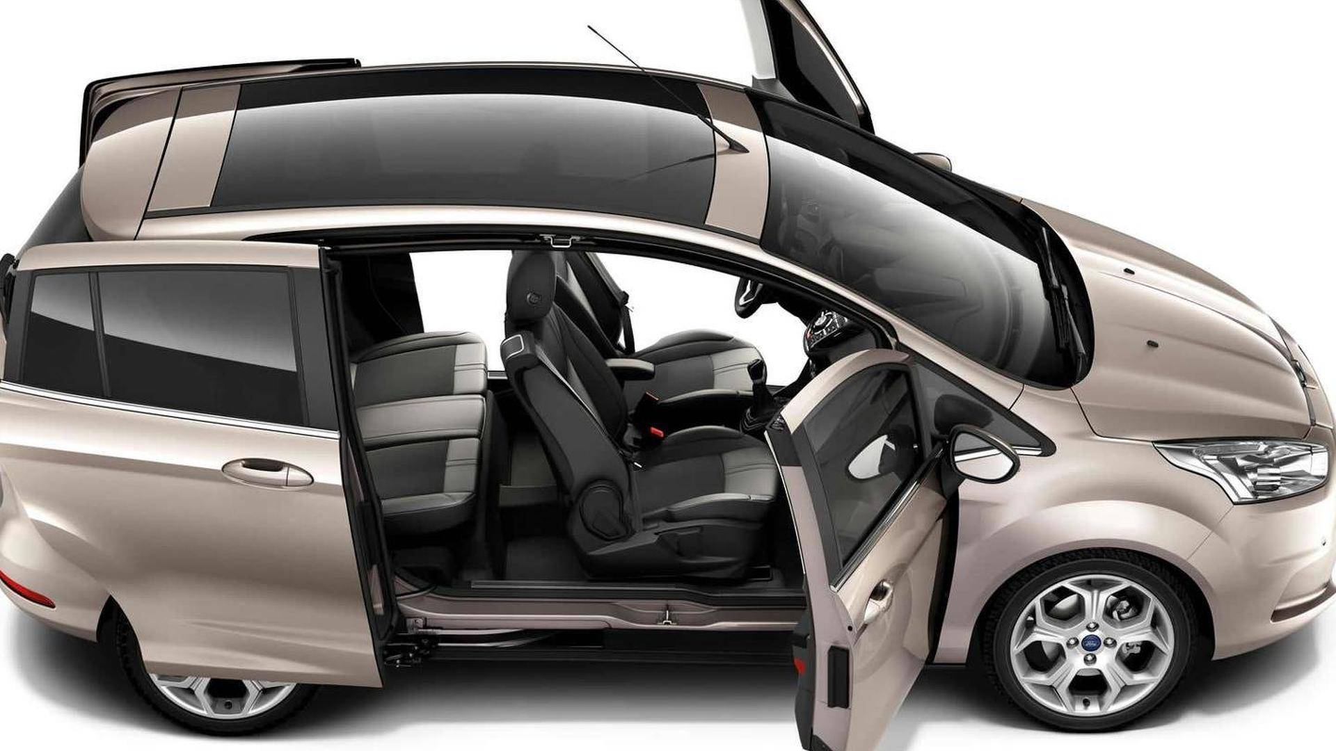 Ford B Max Sliding Doors Reveal Pillarless Design