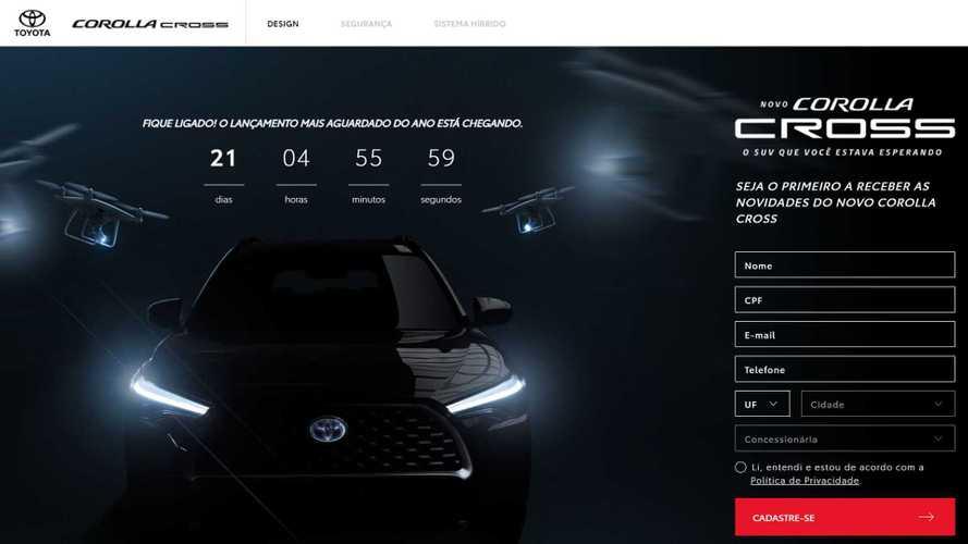 Toyota Corolla Cross ganha site e data de lançamento no Brasil: 11 de março