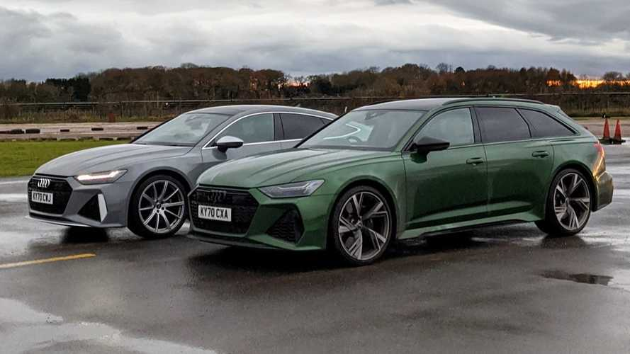 Audi RS6 Avant Vs RS7 Sportback Drag Race Ends In Photo Finish