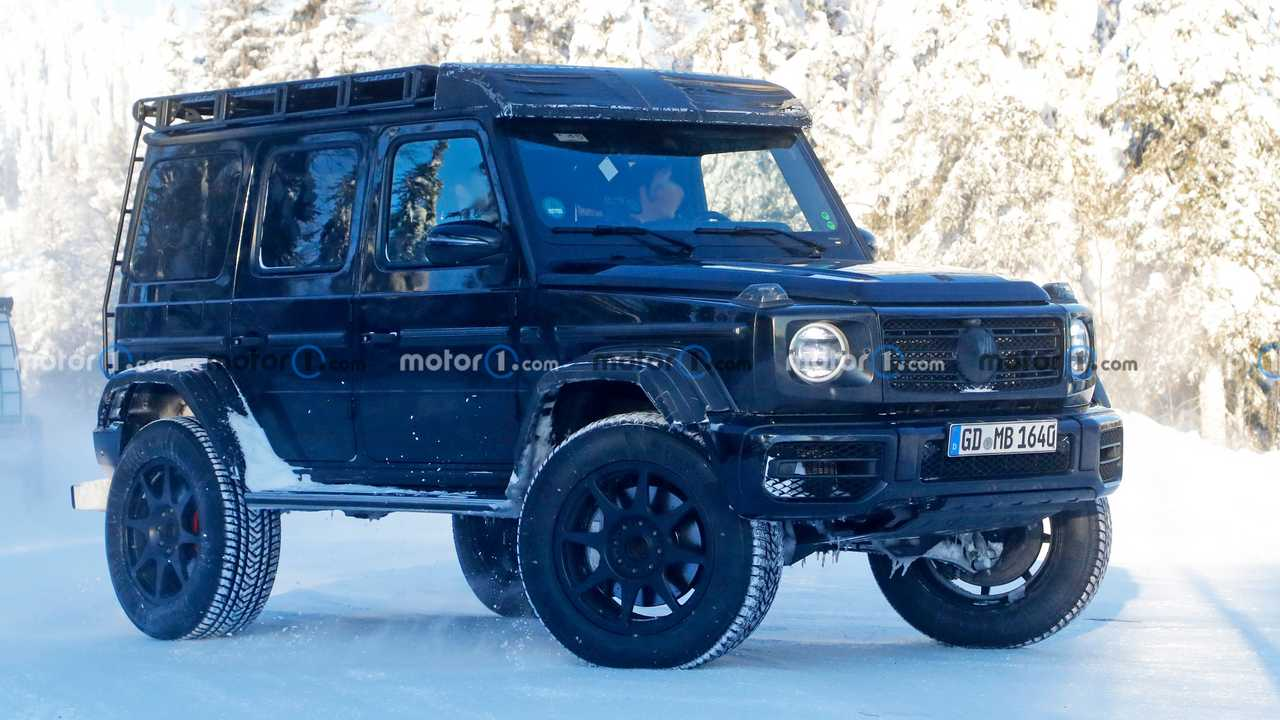 2022 Mercedes G-Class 4x4 Squared spy photo