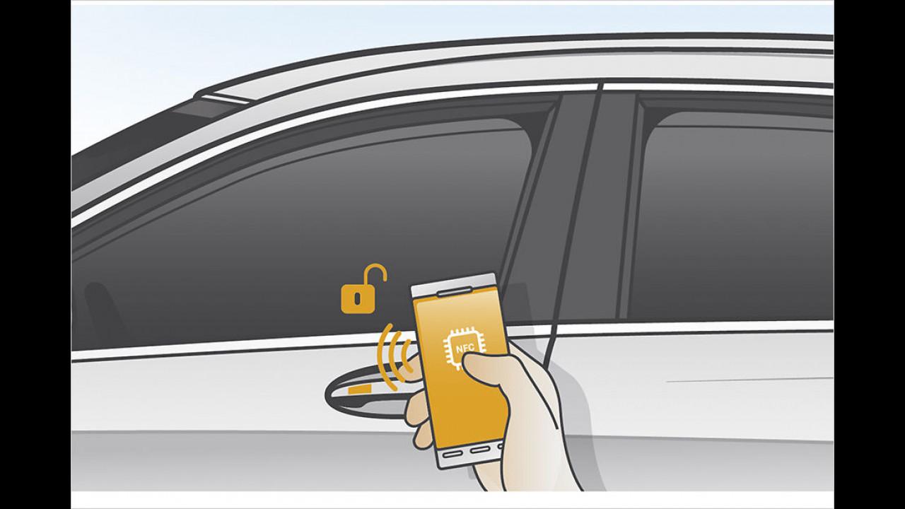 Das Handy als Fahrzeugschlüssel