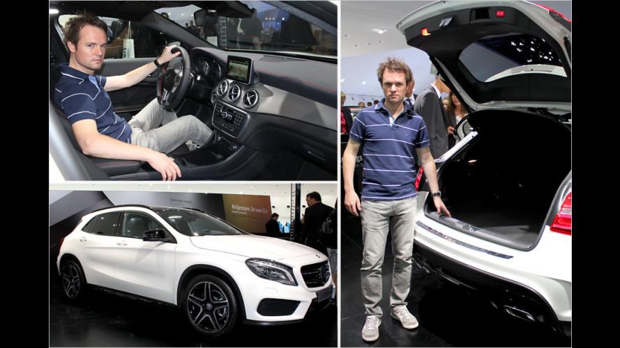 Erste Sitzprobe im Mercedes GLA