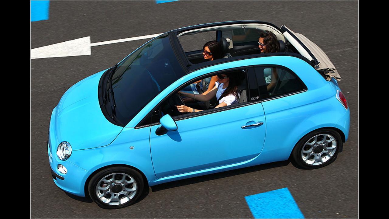 Fiat 500C (16,5 Sekunden, bis 60 km/h)
