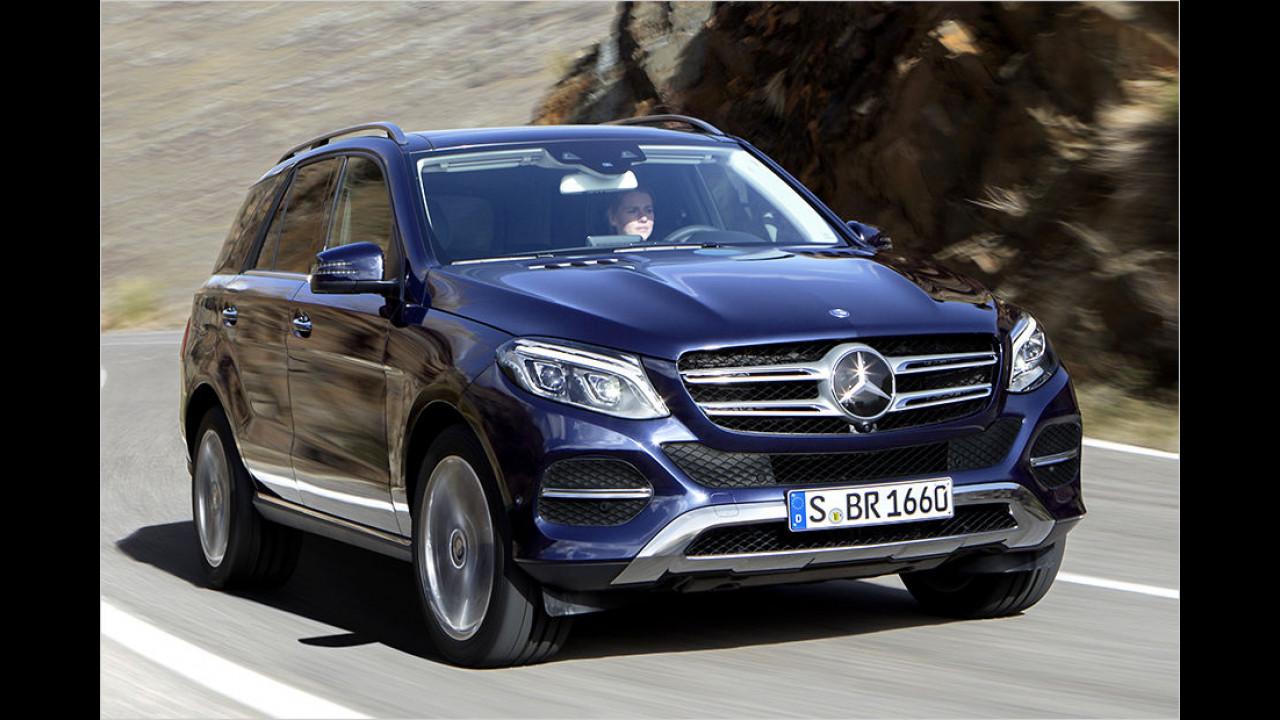 Top: Mercedes GLE, Baujahr 2015, 50 Standtage