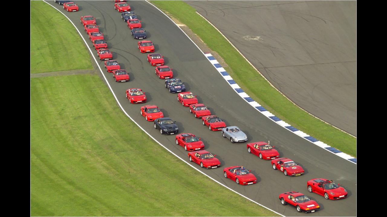 Der größte Ferrari-Autokorso