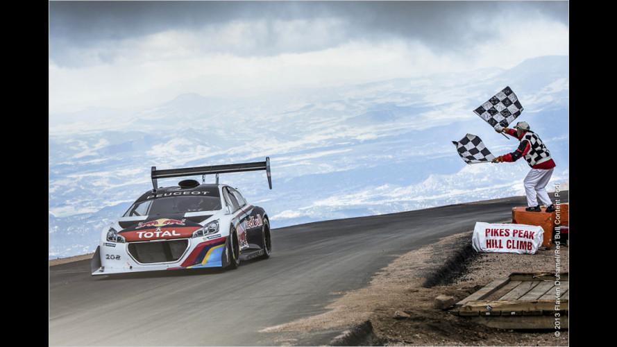Loeb knackt Pikes-Peak-Rekord mit Peugeot 208 T16