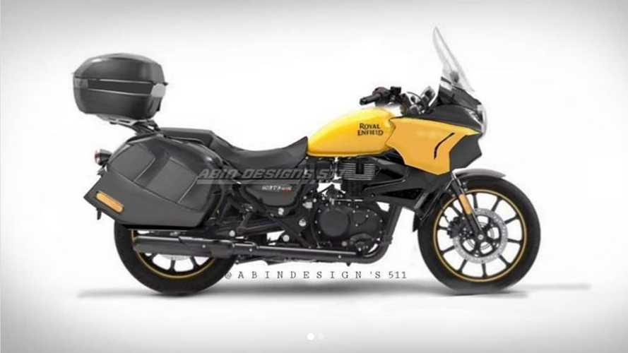 Royal Enfield Meteor Imagined As Long-Distance Tourer