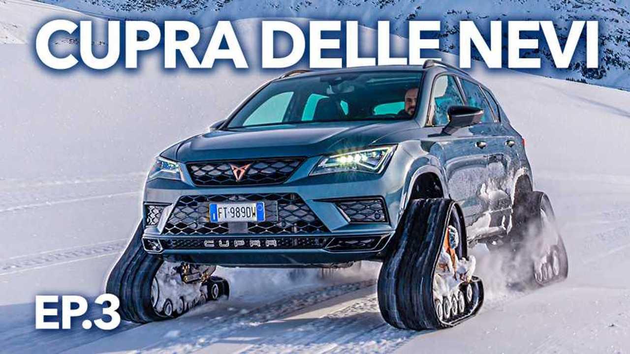 """Cupra Ateca cingolata, il """"SUV delle nevi"""" in azione"""