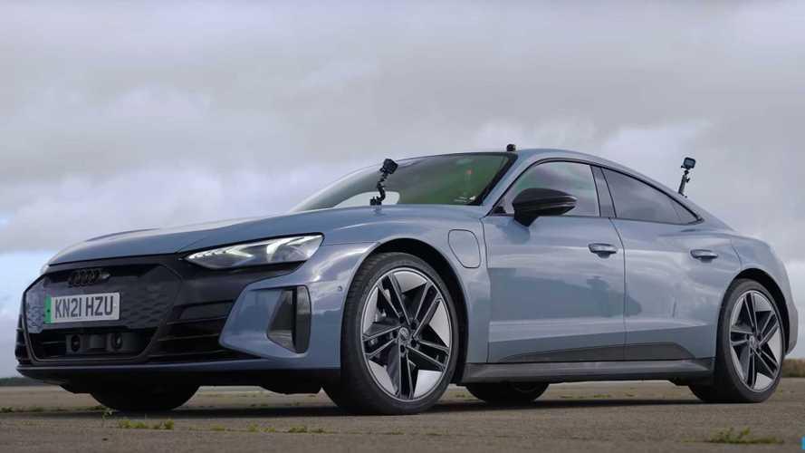 Audi RS E-Tron GT vs Porsche Taycan vs Tesla Model S Performance drag race