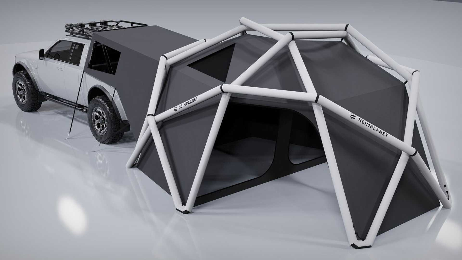 Alpha Motors Wolf + Cloudbreak Tent View