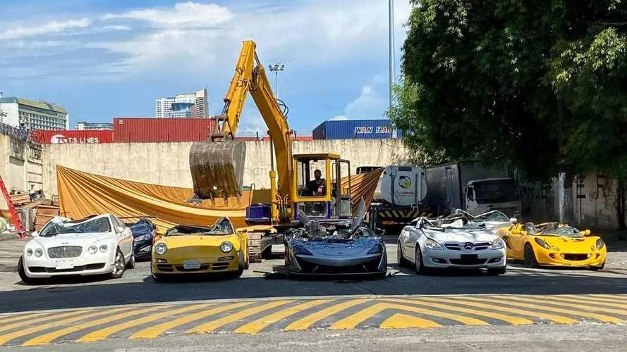 Новые McLaren, Porsche, Lotus и Bentley попали под каток