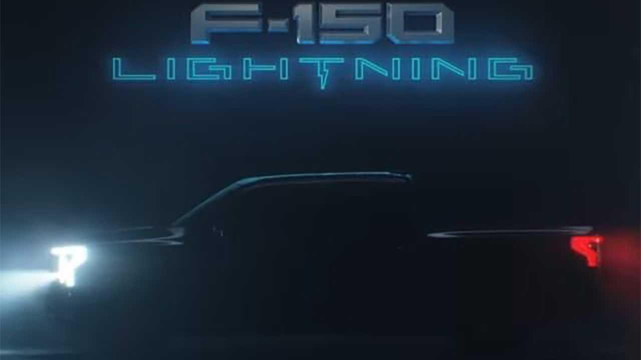 Ford F-150 Lightning side profile ad