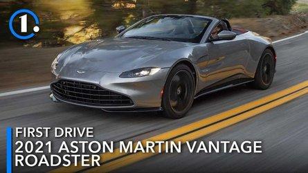 Chiếc xe đầu tiên của Aston martin vantage Roadster 2021