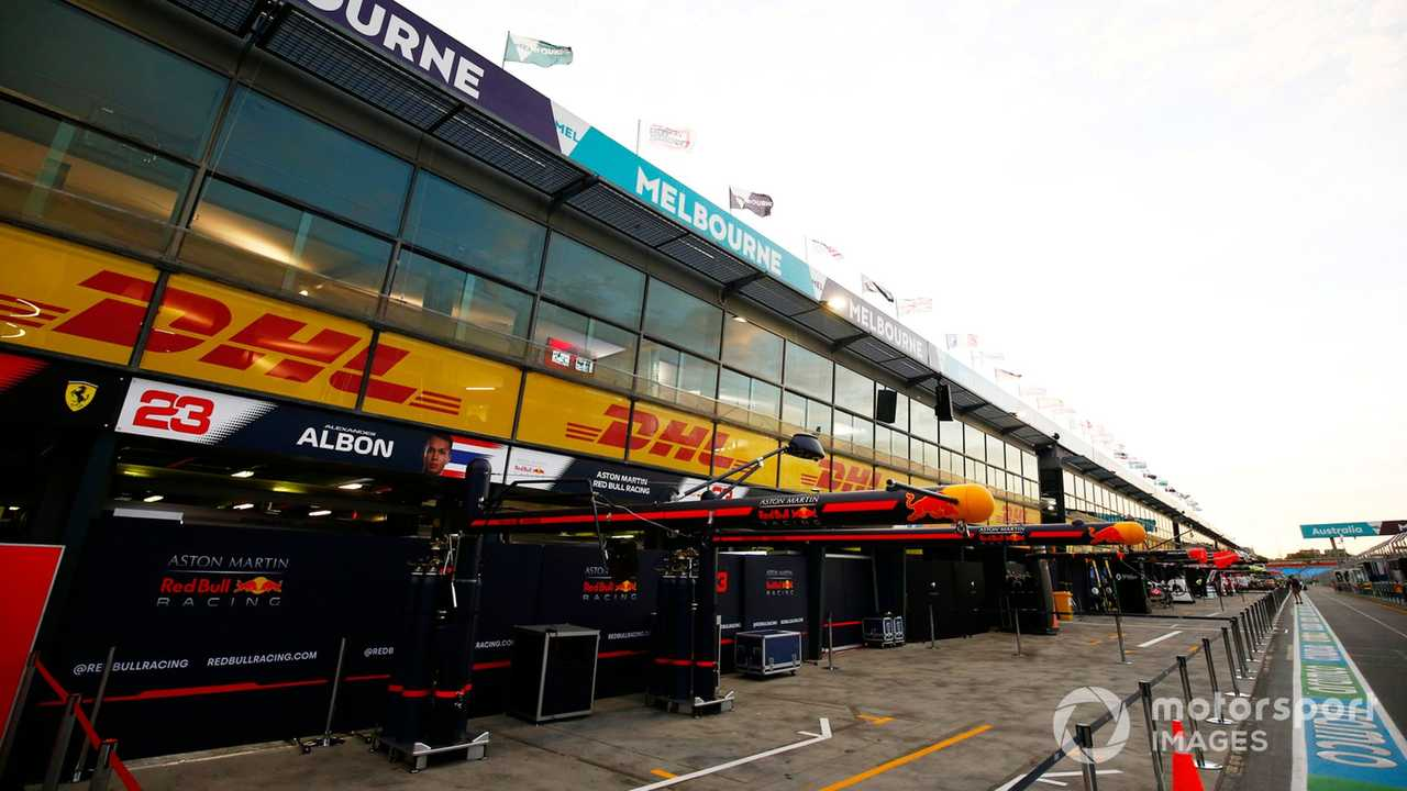 Red Bull Racing garage in the pit lane Australian GP 2020