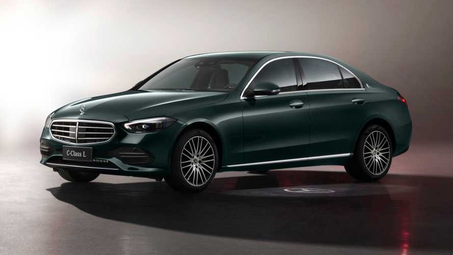 Mercedes C-Class LWB Debuts With Classic Grille, Hood Ornament