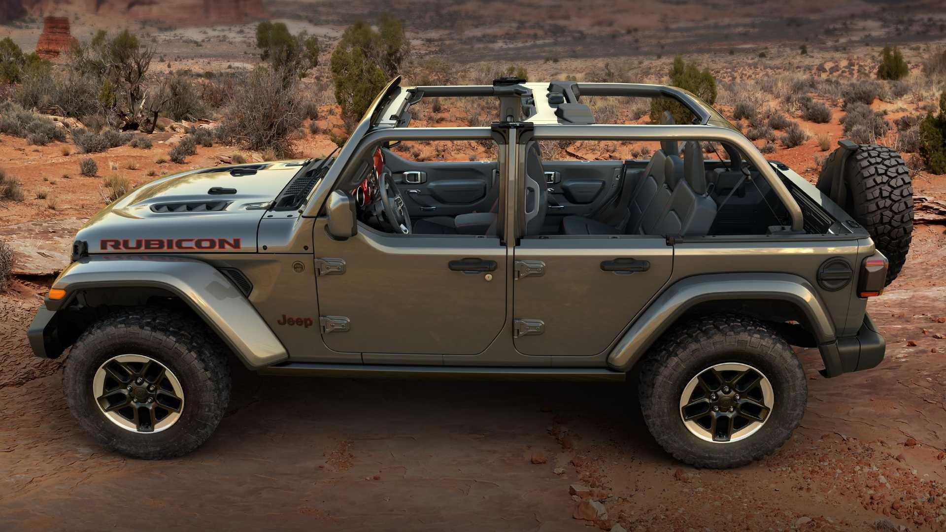 Дебют Jeep Wrangler Half Doors для любителей вождения под открытым небом